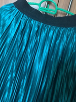 Used 👗Pleated maxi skirt👗S/M/L turquoise  in Dubai, UAE