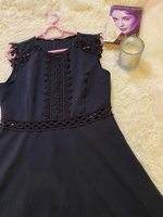 Used Black mini dress with lace in Dubai, UAE
