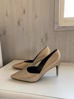 Used Glitter gold/bronze heels 38 negotiable  in Dubai, UAE