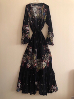 Used Wrap V-Neckline Dress Black XL  in Dubai, UAE