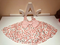 Used Chic flower pattern solid Dress 6-9 M in Dubai, UAE