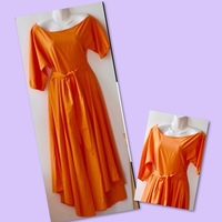 Used Orange Off Shoulder Long Dress/M in Dubai, UAE