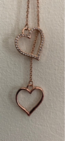 Used Rose gold adjustable heart necklace 35cm in Dubai, UAE