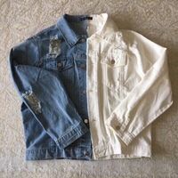 Used white and blue denim jacket (new) in Dubai, UAE