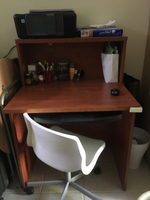 Used Wooden Study table with Revolving chair in Dubai, UAE