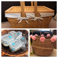 Used Picnic basket & fruit basket & pompom ba in Dubai, UAE