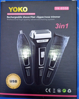 Used 3 in 1 Yoko  Rechargeable Trimmer in Dubai, UAE