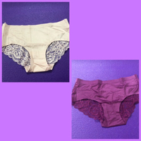 Used 2 Light Pink/1 Old Rose Lace Panties +🎁 in Dubai, UAE