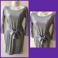 Used Gray Longsleeves Mini Dress /medium  in Dubai, UAE