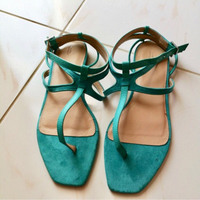 Used Authentic Zara sandals in Tiffany color in Dubai, UAE