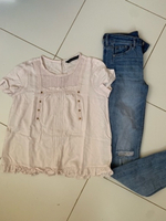 Used Jeans and blouse offer  in Dubai, UAE