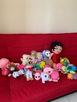Used 20 pcs soft toys for baby in Dubai, UAE
