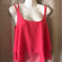 Used double layer chiffon string top size M  in Dubai, UAE