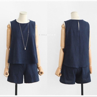 Top and pants set blue size XL