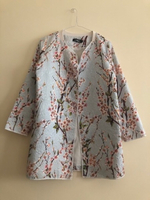 Light Blue Floral Print Coat M