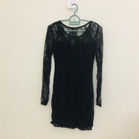 Used Ladies black lace dresse size S-M in Dubai, UAE