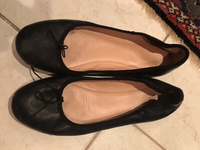 Used Black flats. Size 38 in Dubai, UAE