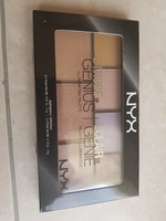Used Nyx strobe of genius highlighter palette in Dubai, UAE