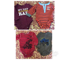 Used Baby Boy Onesies Size 0-3 Months. in Dubai, UAE