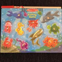Melissa & Doug Wooden Magnetic Fishing Game. Ages 3+. Brand New Never Open.