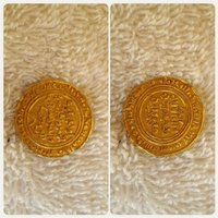 Islamic antique gold quarter dinar o