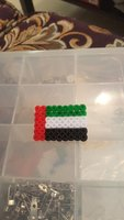 Used UAE flag with pin in Dubai, UAE