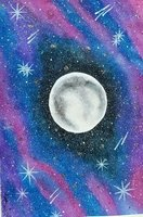 Used Moon Stars Galaxy A4 Hand-Made Painting in Dubai, UAE