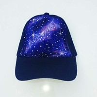 Used Galaxy Handpainted Cap #sarahsArt #sarahbhattiart in Dubai, UAE