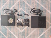 Used Xbox One with 2 controllers and FIFA in Dubai, UAE