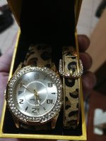 Ladies watch with matching bangle