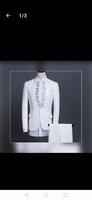 Used Men wedding suit white size XXL in Dubai, UAE