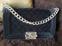 Used Chanel Velvet boy bag in Dubai, UAE