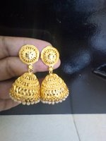 2 pair gold plated big size earrings