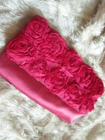 Pink purse with roses. Preloved.