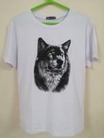 Used 3D Wolf Head Short-sleeved T-shirt. in Dubai, UAE