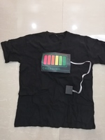 LIghts voice activated music t shirt XL