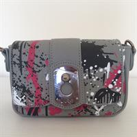 LiuJo Graffiti Grey Crossbody Bag. Detachable Strap. Made Of Faux Leather.