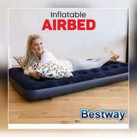 Used 2 Inflatable air bed, single size + pump in Dubai, UAE