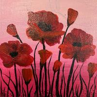 Used Red flower painting in Dubai, UAE
