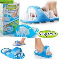 Feet cleaning brush no bending