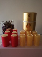 Gold mask & hair curl. 2 sets