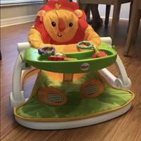 Used Lion sit me up floor seat, fisher price in Dubai, UAE