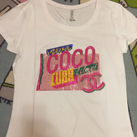 Brand New Coco Chanel Coco Libre Top, With Glittered Print. Material Is Soft Cotton Polyester. Size Is XXL But It Is Asian Size So Will Fit Medium To Large Frames