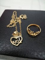 Used Love Gold Jewelry 2pcs/1setx1 in Dubai, UAE