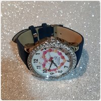 Navy blue hello kitty watch