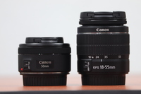 Used Canon EF 50mm f1.8 and18 - 55mm kit lens in Dubai, UAE