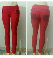 Longpants Slim Fit Red Color Medium Stre