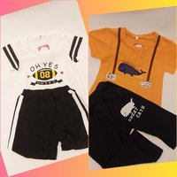 Used Baby Boys 2 Sets of Tee and Shorts in Dubai, UAE