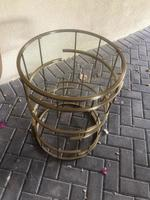 Used Brass table with glass top in Dubai, UAE