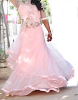 Used Baby pink designer gown for your  spaeci in Dubai, UAE